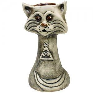 Аромалампа Кот (Священное Око) 18 см, шликер