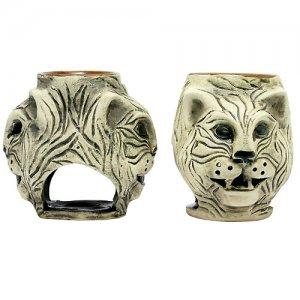 Аромалампа Тигр двойной 10 см шликер