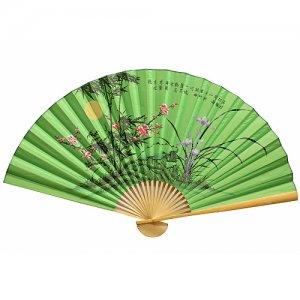 Веер 90 см зеленый рисунок в асс.