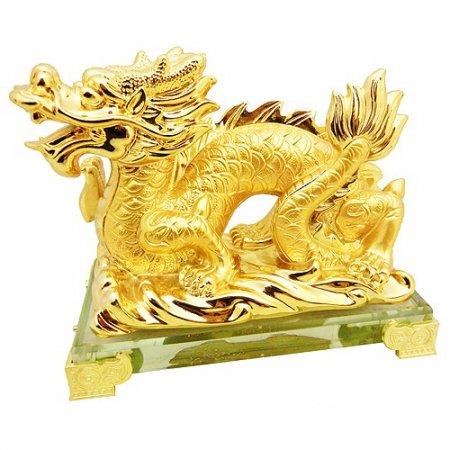 Дракон, сусальное золото