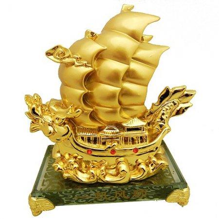 Дракон-корабль, сусальное золото