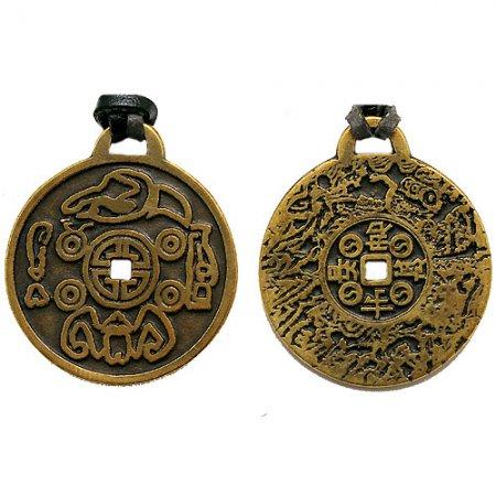 2. Амулет-подвескa Корейская монета Счастья