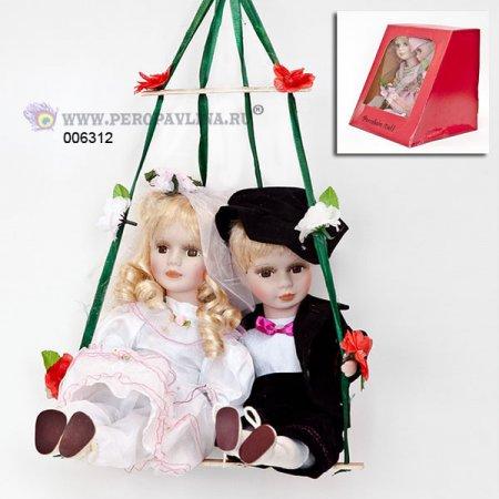 Куклы на качелях 24*24*21см асс фарф+текст/16
