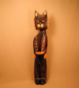 Кот. Декор `Цветочный`. 60 см.