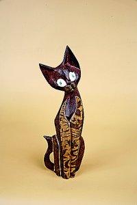 Кошка. Декор `батик`. 30 см.
