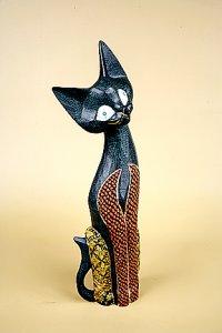 Кошка. Декор 'батик'. 40 см.