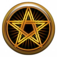 Белая пентаграмма (объемный талисман-наклейка (АртСимвол))
