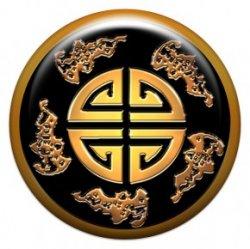 """Китайский талисман """"Пять благ"""" (объемный талисман-наклейка (АртСимвол))"""