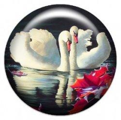 Два лебедя (объемный талисман-наклейка (АртСимвол))