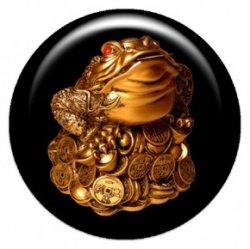 Лунная жаба богатства (объемный талисман-наклейка (АртСимвол))