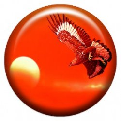 Орел, летящий к солнцу (объемный талисман-наклейка (АртСимвол))