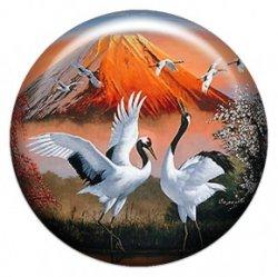 Даурские журавли (объемный талисман-наклейка (АртСимвол))
