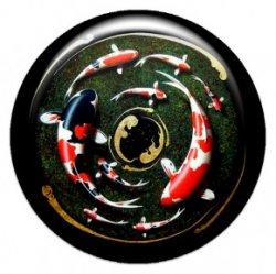 Девять карпов (объемный талисман-наклейка (АртСимвол))