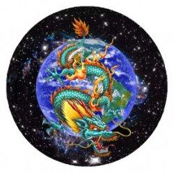 Небесный Дракон (объемный талисман-наклейка (АртСимвол))