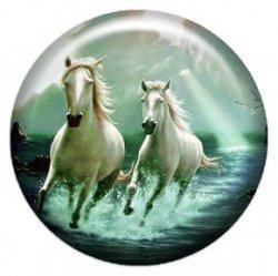 Две лошади (объемный талисман-наклейка (АртСимвол))