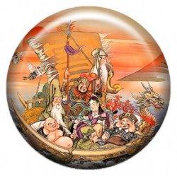 Семь богов счастья (объемный талисман-наклейка (АртСимвол))