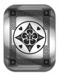 """Магическая карта """"Талисман поиска любви"""", 45х35 мм, сталь"""