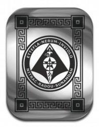 """Магическая карта """"Пентакль защиты имущества"""", 45х35 мм, сталь"""