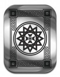 """Магическая карта """"Звезда Эрцгаммы"""", 45х35 мм, сталь"""